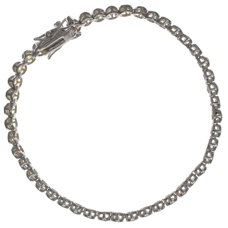 Damen-Armband-echt-Silber-925-Sterling-rhodiniert-Zirkonia-19-5cm-Tennisarmband Indexbild 3