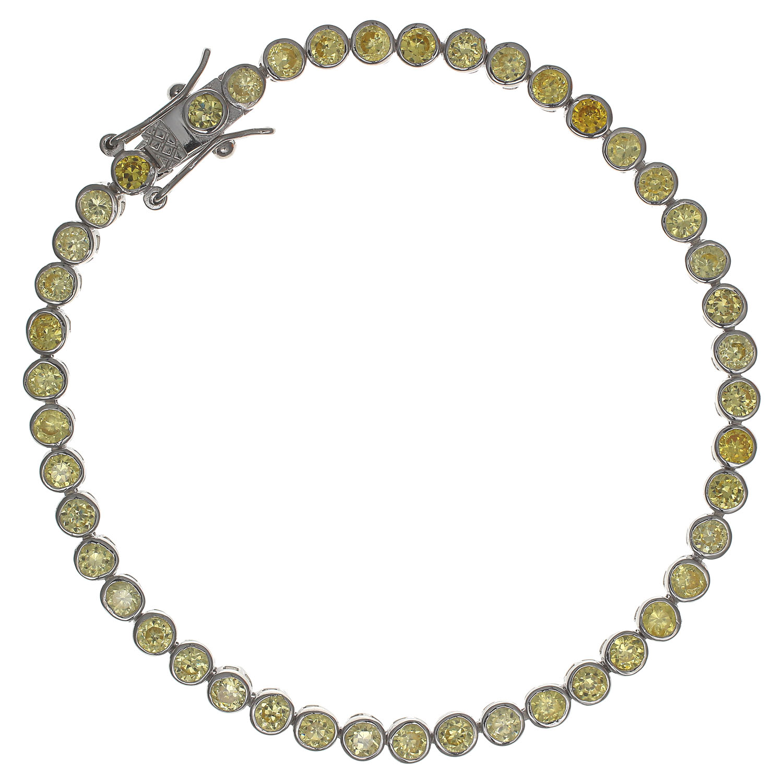 Damen-Armband-echt-Silber-925-Sterling-rhodiniert-Zirkonia-19-5cm-Tennisarmband Indexbild 2
