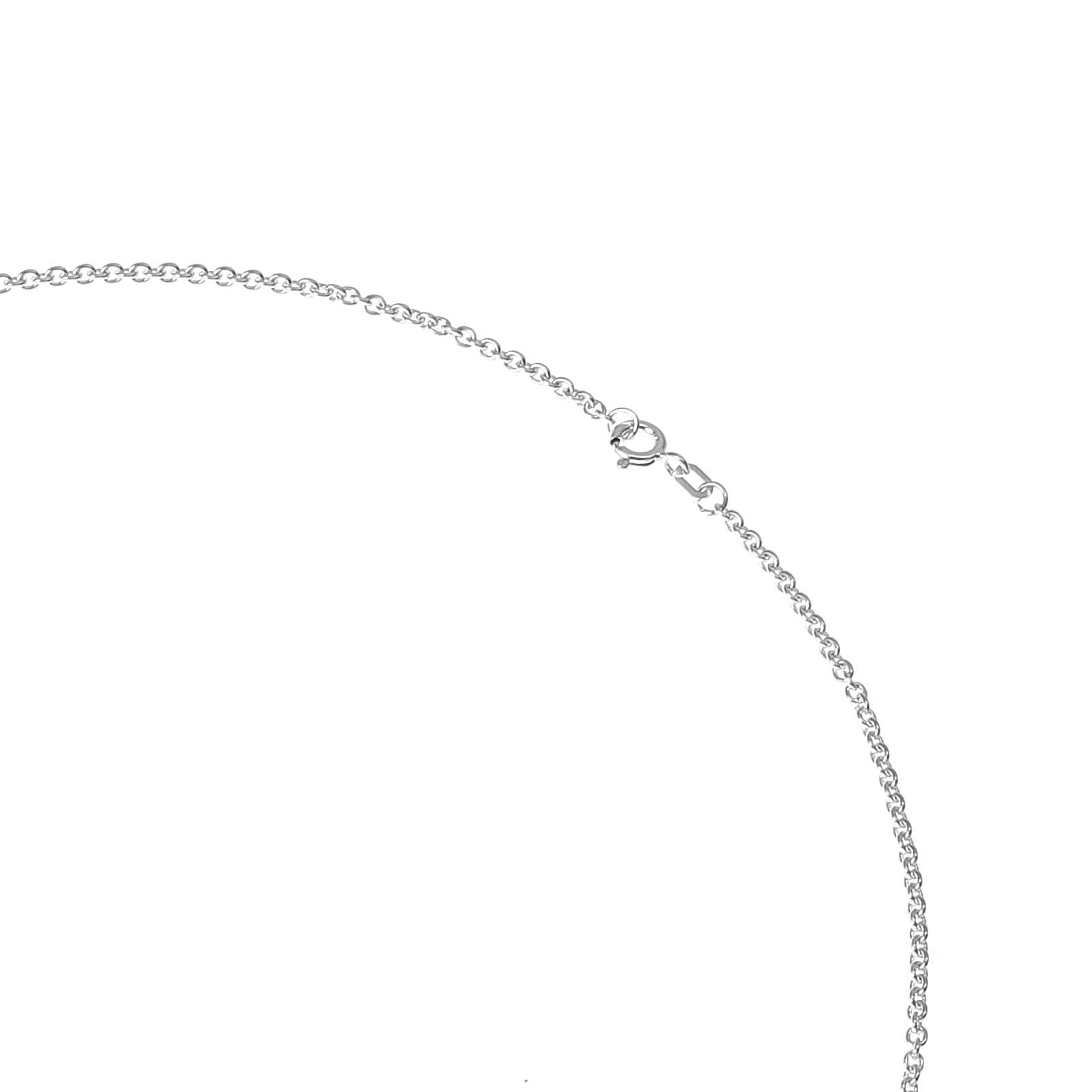 Halskette-echt-Silber-925-Sterling-mit-Anhaenger-Herz-Schluessel-70-cm-Zirkonia Indexbild 3
