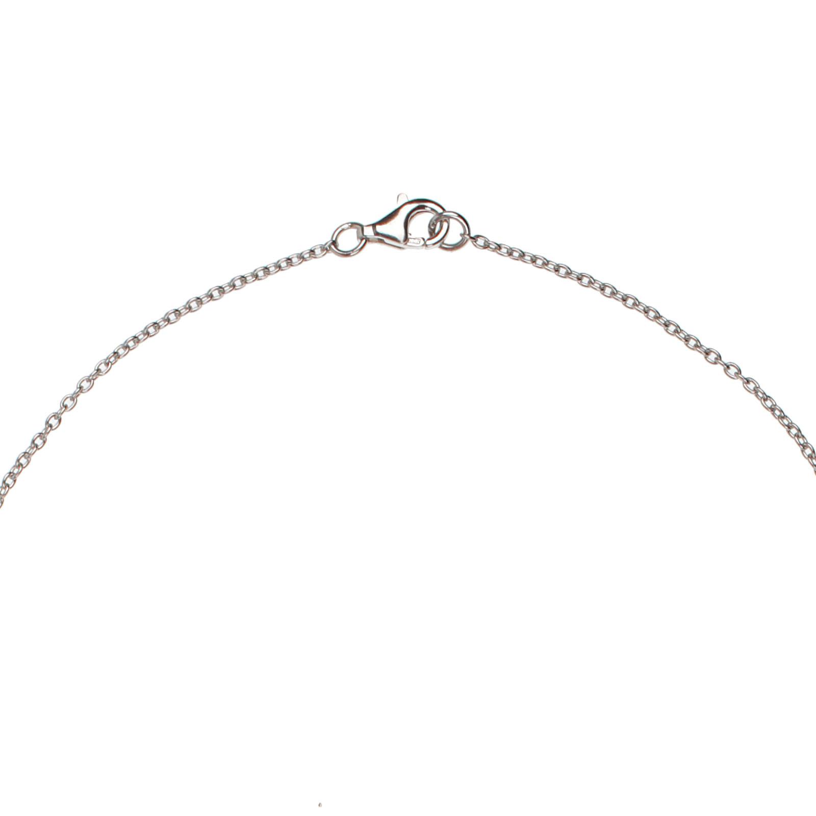 Damen-Halskette-echt-Silber-925-Sterling-mit-Zirkonia-46-cm-lang-Collier Indexbild 3