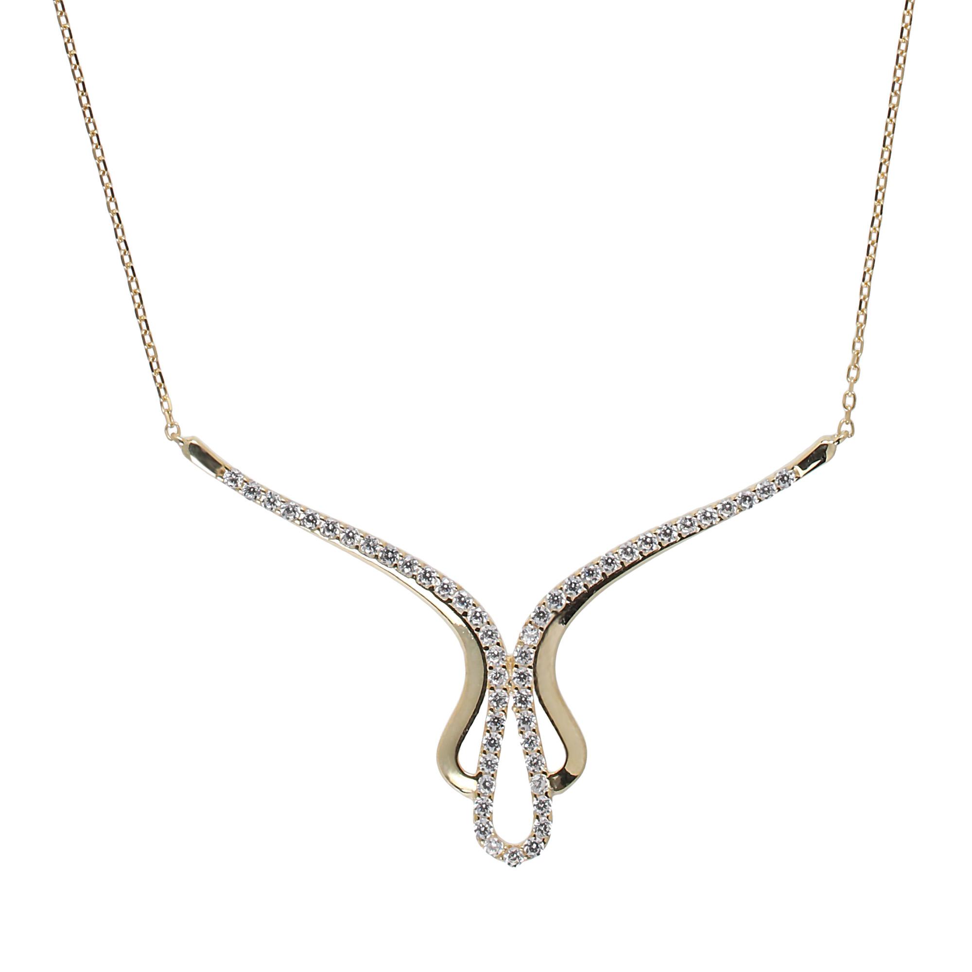 Halskette mit echtem Diamant weiß roh 2 mm 40-45 cm grau 925 vergoldet